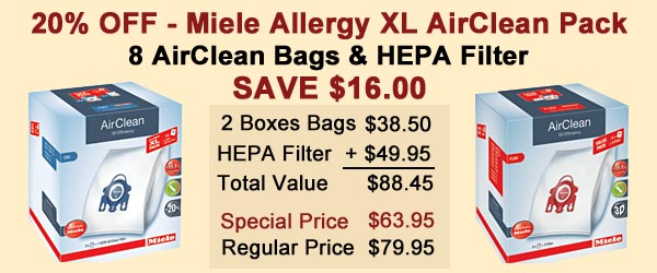 Miele Allergy XL Pack Save 20%
