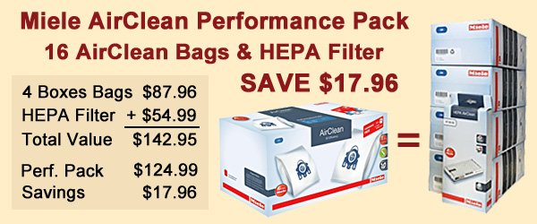 Miele Performance Pack Savings