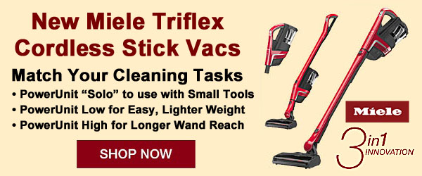 New Miele Triflex Stick - 3 in 1 Inovation
