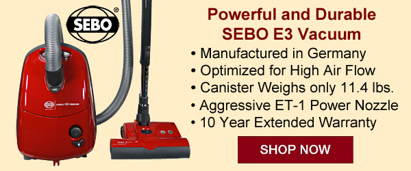 Powerful and Durable SEBO E3 Vacuum
