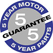 SEBO 5-Year Warranty Logo